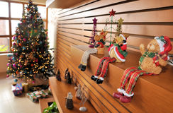 Christmas ornaments. Image of home Christmas ornaments and tree Royalty Free Stock Photos