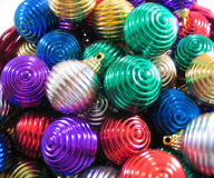 Christmas ornaments. Multi-colored christmas ornaments Stock Photography