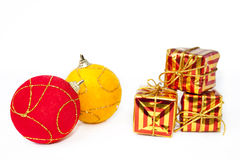Christmas ornaments. Isolated on white background Stock Photography