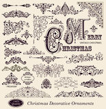 Christmas Ornaments. Set of Christmas Ornaments and Design Elements Royalty Free Stock Images