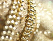 Christmas ornaments. Abstract and close up image of shiny christmas ornaments Royalty Free Stock Photo