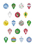 Christmas Ornaments. A variety of Christmas ornaments Stock Photos