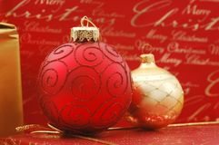 Christmas Ornaments. Christmas decoration stock image