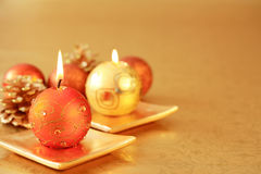 Christmas ornaments. With copy space for your text Royalty Free Stock Photo