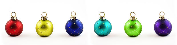 Christmas ornaments. On a white background Royalty Free Stock Photos