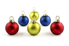 Christmas ornaments. On a white background Royalty Free Stock Photo
