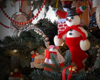 Christmas Ornaments. Ornaments hanging on a Christmas tree Royalty Free Stock Photos