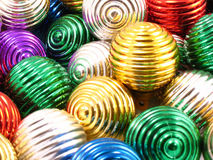 Christmas ornaments. Different colors, same size Stock Photo