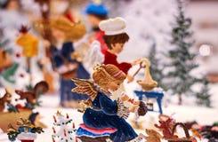 Christmas ornaments angel figure  handpainted Royalty Free Stock Photo