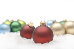 Christmas Ornaments. Assorted colors of Christmas Ornaments Royalty Free Stock Photos