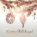 Christmas ornaments background royalty free illustration