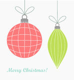 Christmas ornaments background Stock Photo