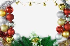 Merry Christmas ornaments decoration background. Christmas ornaments background. Copy space. Merry Christmas Royalty Free Stock Photos