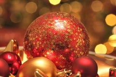 Christmas ornaments background Stock Photos