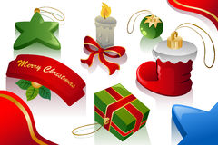 Christmas ornaments background Royalty Free Stock Image