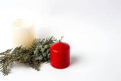 Christmas ornaments. Balls. Toys. Santa claus; Candles; Gifts; Royalty Free Stock Image