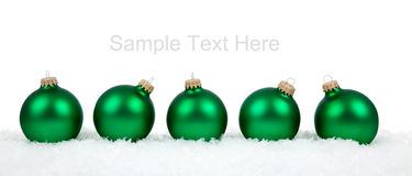 Christmas ornaments/baubles on white Stock Photo