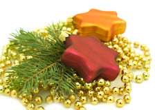 Christmas ornaments with beads Stock Image