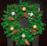 Christmas ornaments, bells, stars, balls, Christmas wreaths tabs, tree, holiday, new year, decorations for Christmas trees in the Stock Images
