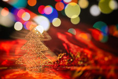 Christmas ornaments on a blur background Royalty Free Stock Images