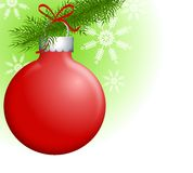 Christmas Ornaments on Branch 2 Royalty Free Stock Photography