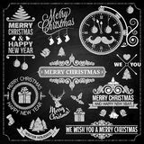 Christmas ornaments chalk set Stock Image