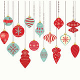 Christmas Ornaments,Christmas Balls Decorations,Christmas Hanging Decoration set. The vector for Christmas Ornaments,Christmas Balls Decorations,Christmas Stock Image