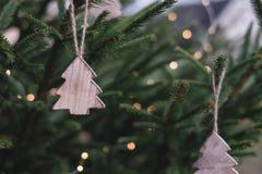 Christmas Ornaments On Christmas Tree Stock Photos