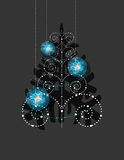 Christmas ornaments, Christmas tree Royalty Free Stock Image