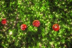 Christmas ornaments on the Christmas tree Royalty Free Stock Photo
