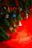 Christmas ornaments on Christmas tree Stock Photo