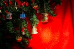 Christmas ornaments on Christmas tree Stock Image