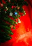 Christmas ornaments on Christmas tree Royalty Free Stock Photos