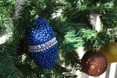 Christmas ornaments on the Christmas tree Royalty Free Stock Photography