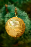Christmas ornaments on Christmas tree Royalty Free Stock Photography