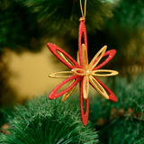 Christmas ornaments on Christmas tree Royalty Free Stock Images