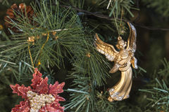 Christmas ornaments on the Christmas tree. Soft focus Royalty Free Stock Photography