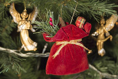 Christmas ornaments on the Christmas tree. Soft focus royalty free stock images