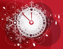 Christmas ornaments. clock Stock Image