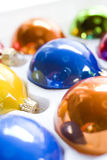 Christmas ornaments closeup Stock Images