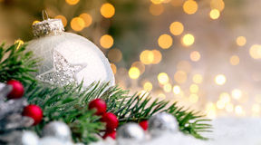 Christmas ornaments closeup Stock Image