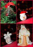 Christmas ornaments collage. Collage of some christmas ornaments Stock Image