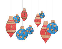 Christmas ornaments collection Stock Photography