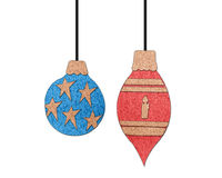 Christmas ornaments collection Royalty Free Stock Photography