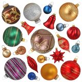 Christmas ornaments collection Stock Photos