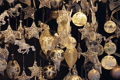 Christmas tree ornaments. Collection of Christmas tree ornaments royalty free stock photo
