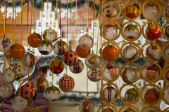 Christmas Ornaments. Colorful Christmas Ornaments on a market Stock Image