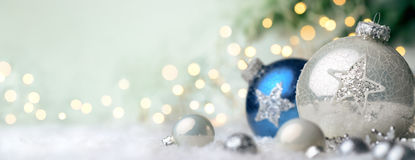 Christmas ornaments with copyspace Stock Photography