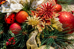 Christmas Ornaments. Decorating a tree Royalty Free Stock Photography