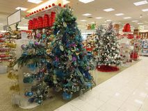 Christmas Ornaments. For decorating christmas tree and the house display Stock Photo